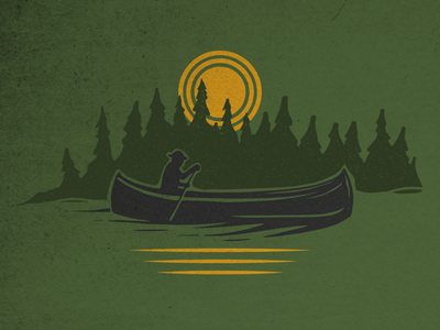 Canoeing outdoor adventure army colors army colors trees adobe illustrator great outdoors nature illustration canoeing camping design branding vintage vermont vector vectorart illustration graphic design
