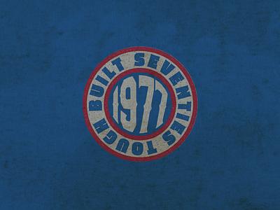 70's Tough made in the usa dirty rough badge badge design vermont logo design typography marketing vintage vectorart logo design graphic design branding