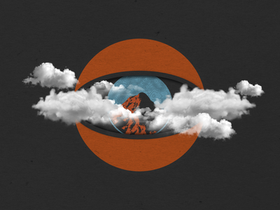 I see a Mountain in the Mist drawing vermont fall autumn design eyes clouds mountains adobe illustrator illustration graphic design