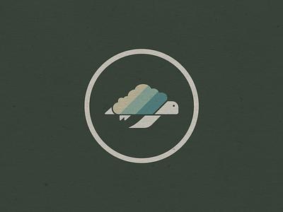Turtle in the Clouds turtle retro vermont stickers logo design illustration vectorart logo marketing design graphic design branding