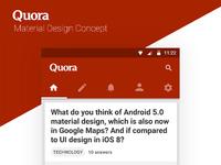Quora concept   homescreen
