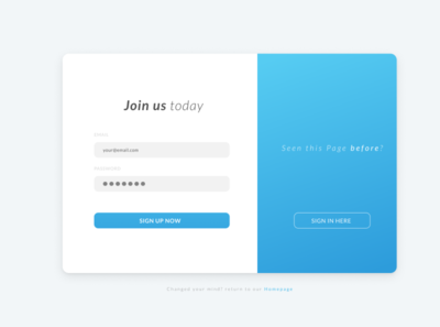 SignUp Page / DailyUI001