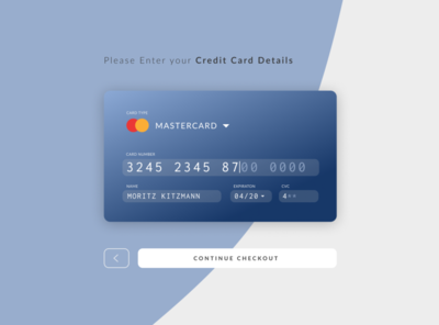Credit Card Checkout / DailyUi 002