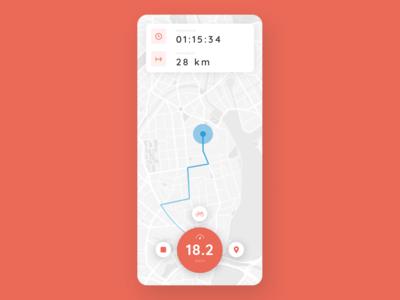 Sport Tracking App / DailyUI 020