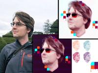 Low Poly Glitch Profile Picture