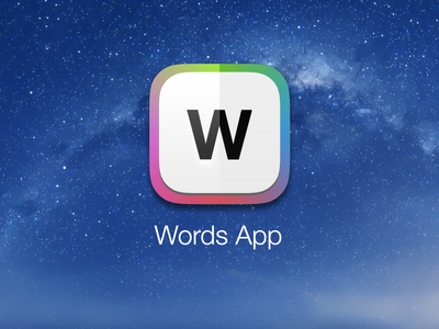 Words for iOS7 ios7 iphone icon typography colors w paper light