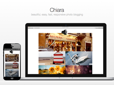 Chiara - Ghost photo blogging blog responsive website mobile photo html css ghost