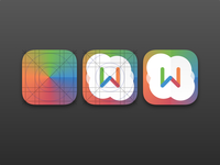 Icon experimentation ios7 iphone icon typography colors w paper light