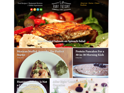 Ghost Food blog theme V2 blog responsive website mobile photo html css ghost typography food theme