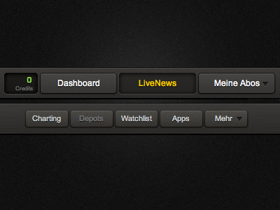 Refined buttons buttons black dark grey icons interface design html css css3