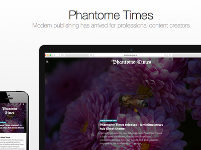 Phantome Times ghost theme modern publishing news minimal
