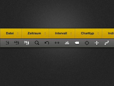 New Charting GUI icons html5 css3 css website modular dark light toolbar buttons app ui gui
