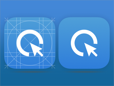 CLIQZ for iOS & Android Icon round blue privacy security logo apple icon mobile ios android browser cliqz