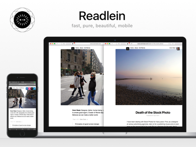 Readlein Ghost Theme android iphone mobile css html fast pure minimal ghost theme