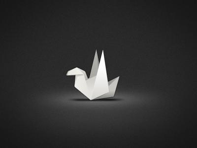 Origami Bird logo app icon desktop mac dock origami paper