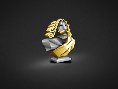 Statue Icon? icon desktop app words dark gold