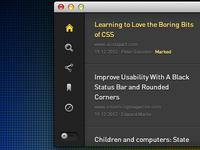 App Sidebar Slider