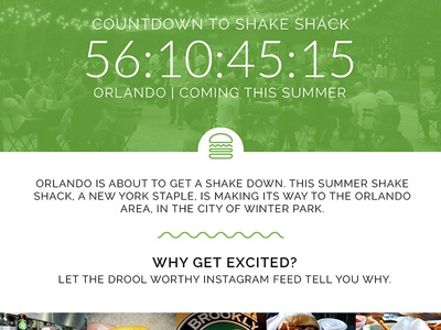 Orlando Shakedown - Unofficial Shake Shack Promo Site