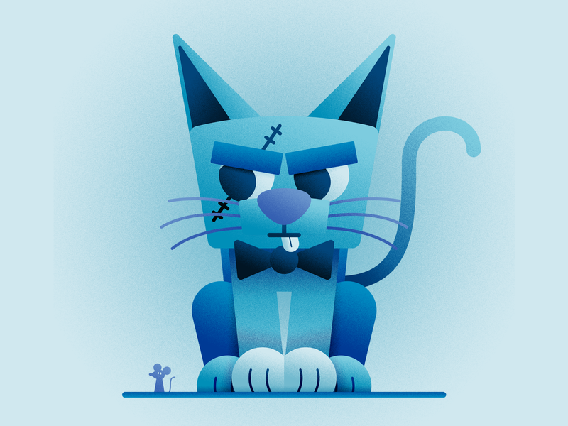 BLUE CAT characters characters design illustration pirate cat blue cat blue cats cat