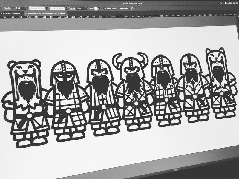 VIKINGS digital illustration vector illustration characters design characters illustration illustration digital warriors berserker viking vikings