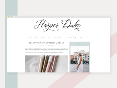 Harper Duke Wordpress Design blog two column simple wordpress