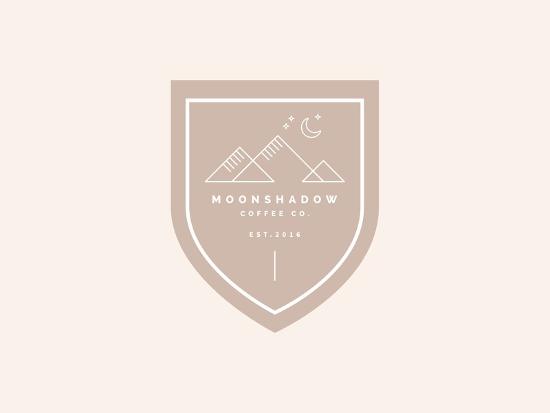 Moonshadow Coffee Co Branding wilderness coffee beige logo 3d sans serif logo branding