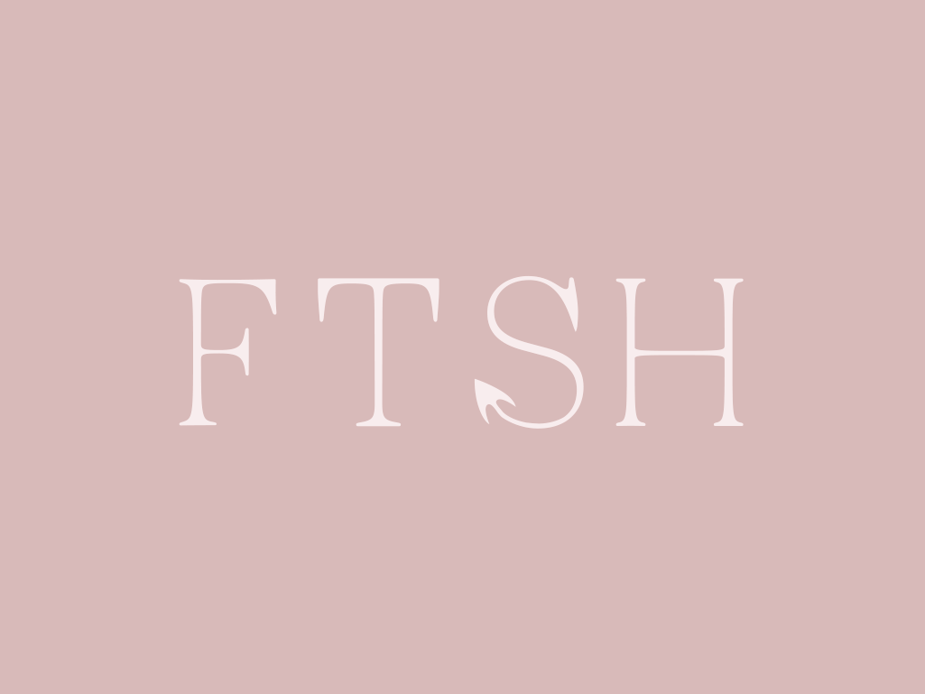 FTSH font design illustration typography vector design logo branding