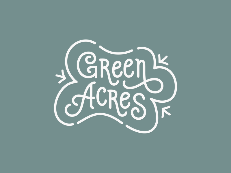 Green Acres Logo Lockup design simple branding restaurant branding calligraphy design calligraphy font calligraphy minimalist design logo illustration typography