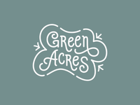 Green Acres Logo Lockup