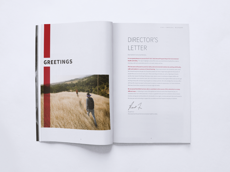 Annual Report simple minimalist design typography