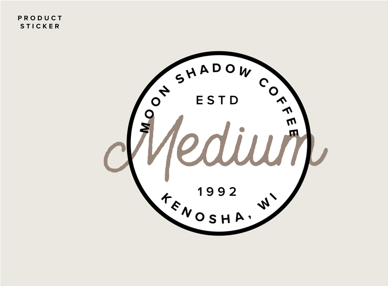MoonShadowLabels Image 01 vector minimalist design typography stickers product label design product label branding sticker