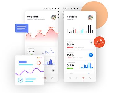 Mobile App Dashboard concept flat minimal animation web app ux mobile app development android graphs ios graph ios dashboar android ui ios mobile ui statistics mobile dashboard app dashboard mobile app