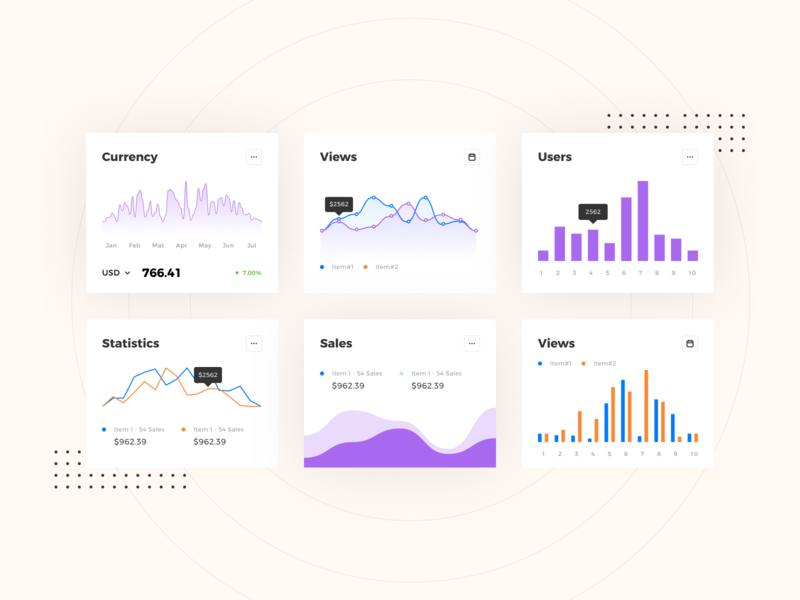 Graphs Widgets widgets flatdesign web dashboard web ui ux ui app minimal modern flat web ui statics barchart area chart line chart graphs