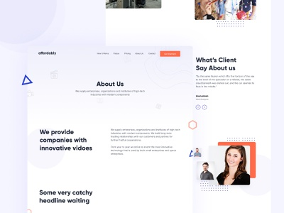 About Us Page Design flat  design website aboutus about us flat unique modern about page company about