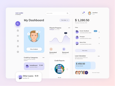 Digital Wallet Dashboard - Free UI Resources dashboard app glassmorphism money tracker dribbble best shot free landing page free figma resources free download freebee daily ui money app dashboard design dashboard ui mobile app design landing page ios minimal ui bright color flat  design modern