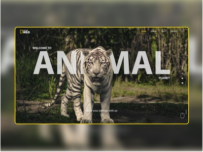 Nat Geo Landing Page-Free UI Resources morphing morphed text travel free figma resource typography art above fold header nat geo tiger animal header idea freebie trendy ui modern
