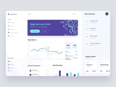 Alpha Store - Dashboard UI Concept modern ui graphs charts analytics store dashboard clean design clean ui wide clean dashboard template dashboard design dashboard app dashboard dashboard ui