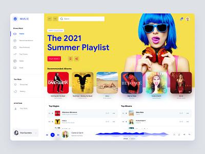 Music Web App UI Concept design admin app interface uiux ux dashboad music music app