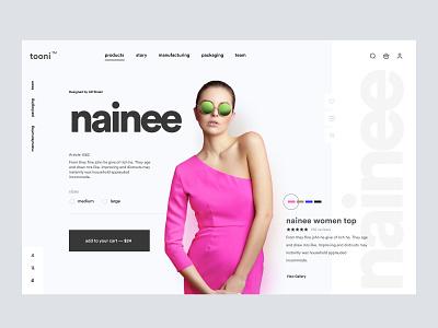 Tooni - Minimal Fashion Shop UI shopify store woocommerce web design web page landing page homepage design home page shopify homepage website web landing