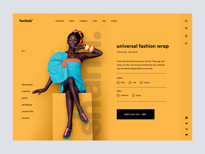 Fuchsia -Fashion Store Product Page UI Design homepage product design ecommerce shopify landig page creative corporate hero header lading page minimal product detail page fashion product page product page store design fashion design fashion brand storefront store fashion