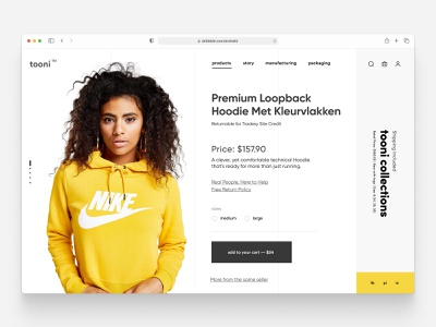 Minimal Fashion Clothing Store Product Page Design Part 2 shopify corporate landig page creative hero header lading page clean ui product design single pager one page design features shop ecommerce webdesign homepage interface web landing website