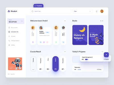 Unversity Dashboard UI Concept product design single page one page design features flat ui cleanui online leanring ui design ux ui design minimal app uiux ux interface dashboad