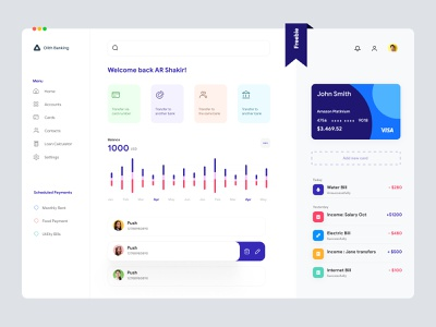 Banking Dashboard UI clean design clean ui ux clean ui one page design website one pager single page design single page finance app banking finance ui design ux ui design minimal app uiux ux interface dashboad