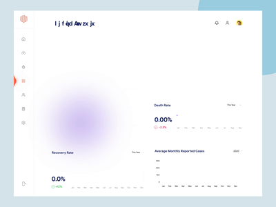 Viruses Information Dashboard UI clean ui flat dashboard 3d animation one pager single pager dashboard design dashboard ui graphs virus 3d animation ui design ux ui design minimal app uiux ux interface dashboad