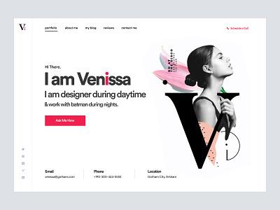 Freelancer Personal Website Design UI web design homepage landing page web landingpage landing website