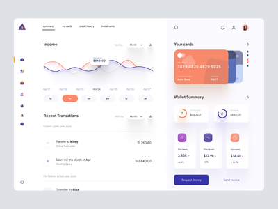 Finance Dashboard App UI - F & L for Love finance user dashboard cms ui user interface application interface design ui design ux dashboad web app web application dashboard ui user experience windows app desktop app admin panel admin dashboard dashboard design