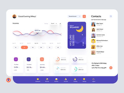Finance Management Personal Dashboard UI dashboard app clean ui finance finance dashboard application desktop app windows app website interface admin design admin panel user dashboard dashboard template admin ui admin dashboard admin theme dashboad dashboard ui dashboard