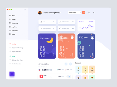 Personal Wallet Dashboard UI Concept analytics app ui application desktop app admin ui admin theme cards ui wallet ui wallet app website uiux interface user dashboard admin dashboard admin panel dashboard app dashboad dashboard ui wallet dashboard