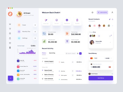 Personal Wallet UI uiux interface analytics dashboard crypto finance application desktop app dashboard admin theme bank ui user dashboard admin dashboard admin ui admin panel dashboard design wallet dashboard app dashboard ui analytics dashboad