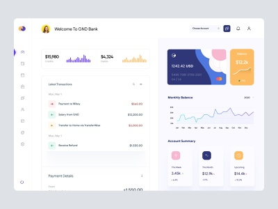 Banking Dashboard UI banking app cards finance banking modern ui clean ui admin theme admin panel crypto windows app app desktop app interface analytics uiux user dashboard admin ui dashboard ui dashboad
